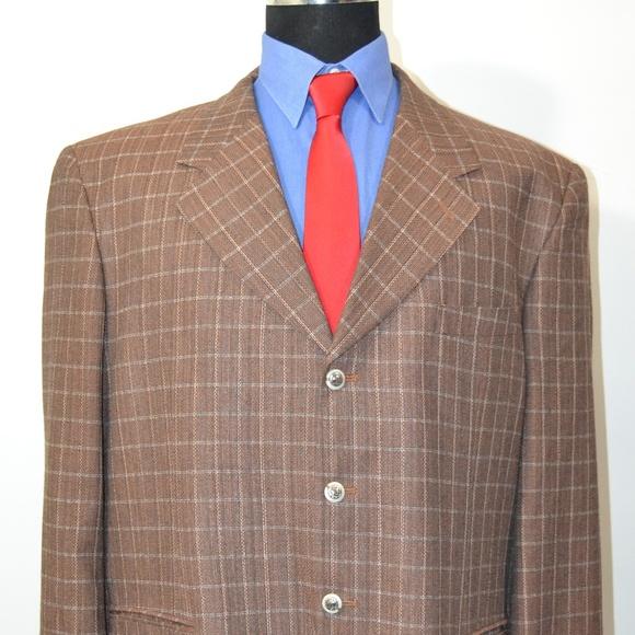 Carlo Zarelli Other - Carlo Zarelli 44R Sport Coat Blazer Suit Jacket Br